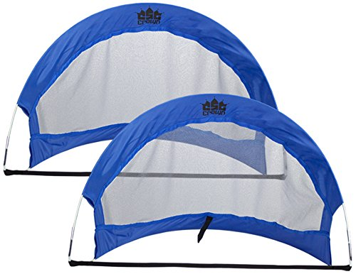 Crown Sporting Goods Pop Up Soccer Goals with 2 Carrying Bags (Set of 2), 4-Feet