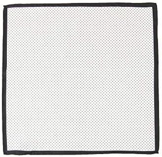 (ザ・スーツカンパニー) ドットプリント シルクポケットチーフ ホワイト×ブラック