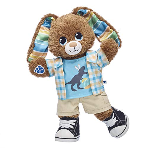 Build A Bear Workshop Chocolate Stripe Bunny Easter Gift Set, 16 inches from Build A Bear