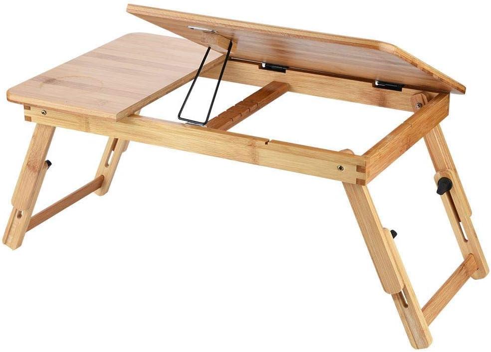 Wei/ß lyrlody Tavolino da Letto Carrello,Tavolino Pieghevole a Rotelle,con Ruote Tavolino Porta PC Notebook,con Cassetto Portaoggetti,Tavolo Regolabile in Altezza,50-80cm