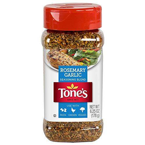 - Tone's Rosemary Garlic Seasoning, NO MSG Value 2 Pack ( 6.25oz Bottle Each )