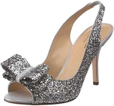 Kate Spade New York Women's Charm Slingback Pump, Silver Glitter, 5 M US