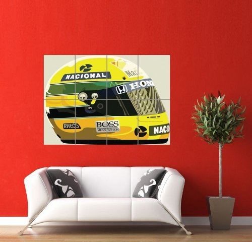 Ayrton Senna Giant Panel Poster Art Print Picture