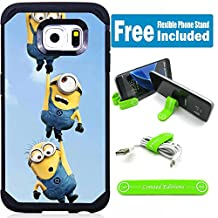 Samsung Galaxy Note 5 Hybrid Armor Defender Case Cover with Flexible Phone Stand - Minions 3Hanging