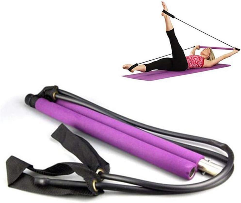 Zhou Yunshan Cuerda de tracción de Yoga Equipo de Gimnasia Pilates Stick Hogar multifunción para Adelgazar Varilla elástica Muscle Relaxation Puller.