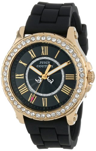 Juicy Couture Women's Black Silicone Strap Watch - 1