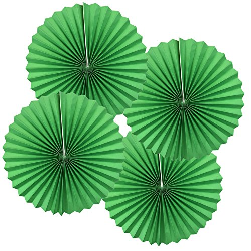 - Just Artifacts Paper Pinwheel Decoration (8inch, Green, Set of 4) - Click for more sizes and colors!