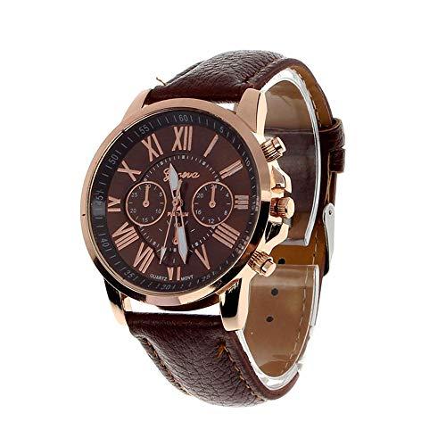 (Hessimy Womens Fashion Watches New Ladies Business Bracelet Classic Luxury Geneva Watch Unisex Sport Casual Leather Band Retro Analog Quartz Wrist Watch Digital Watches for Women On Sale)