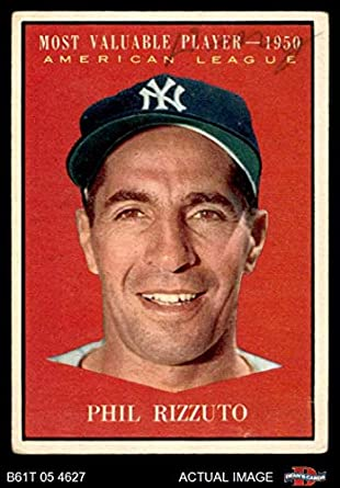 Amazoncom 1961 Topps 471 Most Valuable Player Phil