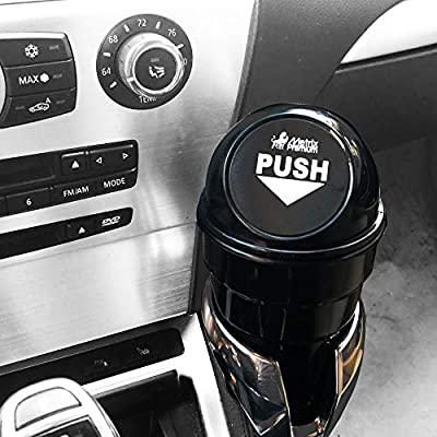 Metrix Premium Trash Cup Holder Small Mini Garbage Can for Car, Home & Office, Black: Automotive