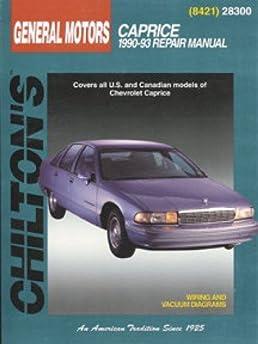 ch28300 chilton chevrolet caprice 1990 1993 repair manual rh amazon com 96 Chevy Impala 91 Caprice MPG