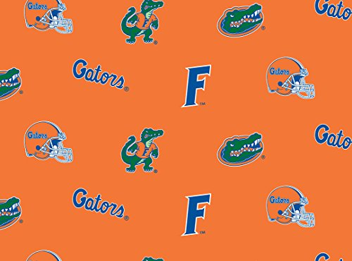 - NCAA Licensed University of Florida Gators All Over Orange Fleece Fabric 60'' Width Sold By The Yard
