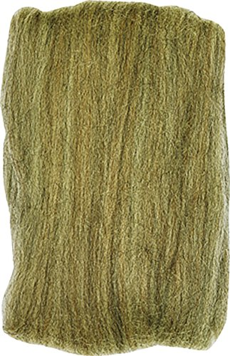 Clover Electronics Natural Wool Roving, Oatmeal