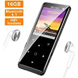 16GB MP3 Player, Supereye MP3 Player with Bluetooth 4.1, Portable HiFi Lossless Sound MP3 Music Player with FM Radio, Recording, E-Book, Backlit Keys, Support up 64G, (Music Headphones Included)