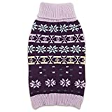 Zack & Zoey Elements Arctic Sweater (Pack of 6), X-Small through Large, Purple