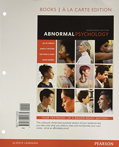 Abnormal Psychology  Books Ala Carte Edition  17Th Edition