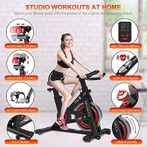 Dripex Upright Exercise Bikes Indoor Studio Cycle