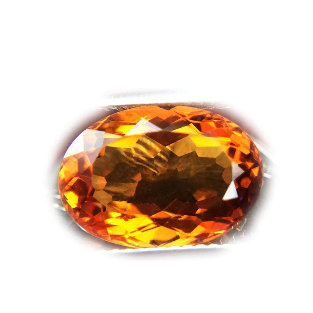 Lovemom 6.04ct Natural Oval Unheated Yellow Citrine Brazil #R