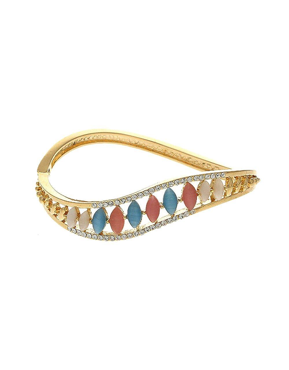 Anuradha Art Multi Colour Fancy Party Wear Stylish Hand Bracelet//Kada for Women//Girls