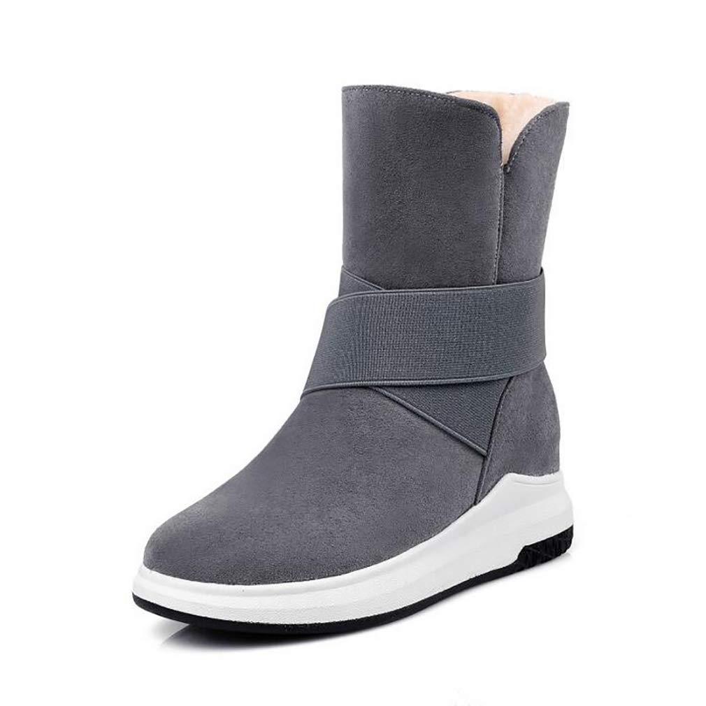Hy Damens's Stiefelies Winter Flache Comfort Winterstiefel Warme Stiefel Damen Wild Snow Stiefel Stiefel Fashion Stiefelies Student Slip-Ons Outdoor Wanderschuhe (Farbe : EIN, Größe : 39)