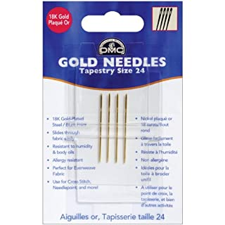 Gold Tapestry Hand Needles-Size 24, 4/Pkg