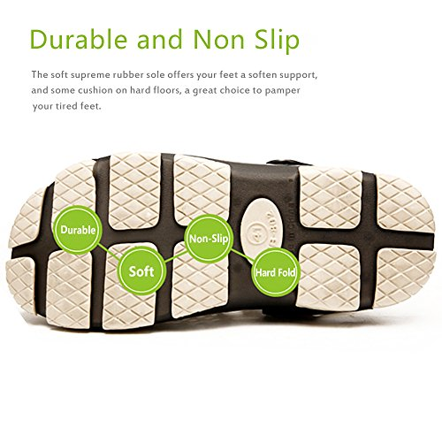 Outdoor Beach Breathable Shoes Slip Garden Clogs Non Summer Unisex Walking Sport Slides Sandals Black Slippers Shower Techcity Pool Bgtpfwqq
