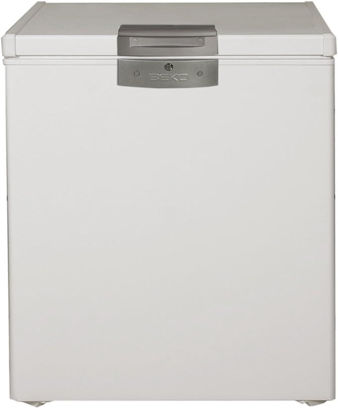 Beko HS221520 Arcón congelador horzontal, 110 W, 208 litros, Acero ...