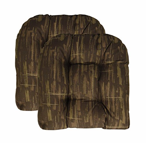 RSH Décor Set of 2 Indoor Outdoor Wicker Chair Cushion U Shape (Camouflage Brown Multi) by RSH Decor