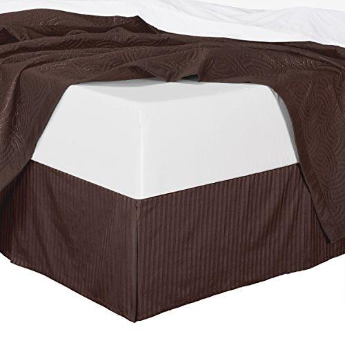 chocolate bed skirt cal king - 7