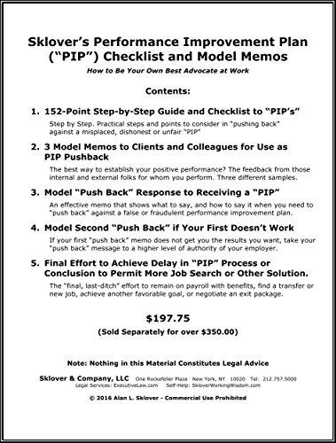 AmazonCom SkloverS Performance Improvement Plan Pip Checklist