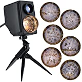 Gemmy Lightshow Projection Plus Slideshow Kaleidoscope Silhouette Star Bethlehem Indoor/Outdoor Holiday Decoration
