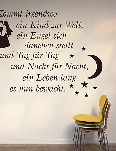 Wall Tattoo, German Words and Shapes PVC Wall Sticker ...