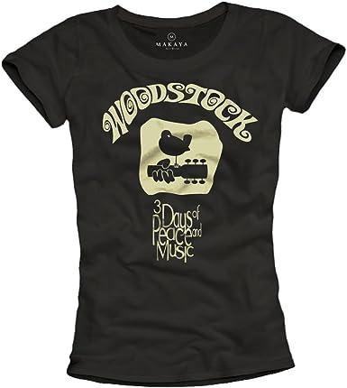 Camisetas Grupos de Musica Rock - Woodstock: Amazon.es: Ropa y accesorios