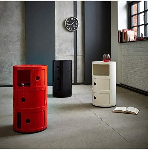 colore Comodino con 2 3 4 5 cassetti Costello/® Bianco 3 Tier White /& Black