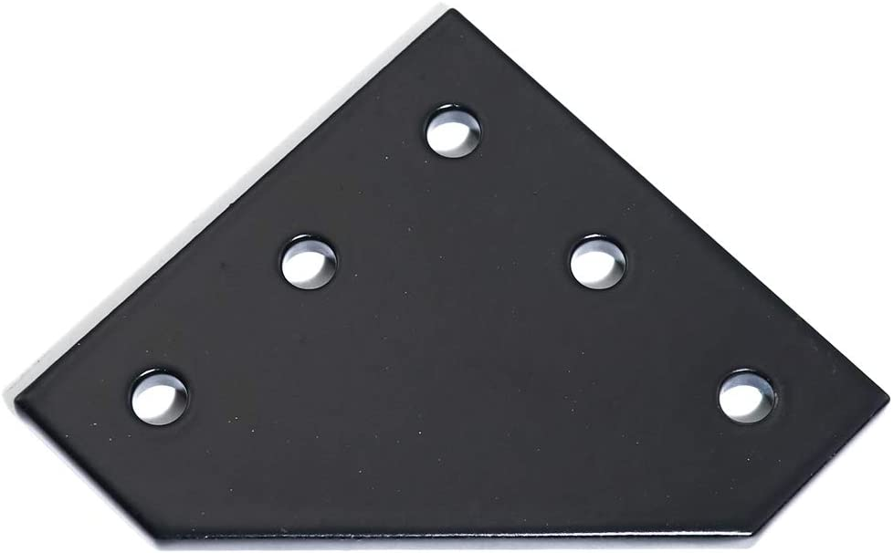 KOOTANS 10Pcs//Set 5-Hole 90 Degree L Shape Outside Joining Plate with Screws and Nuts for 2020 Series Extrusion Aluminum Profile Joint Bracket Plate