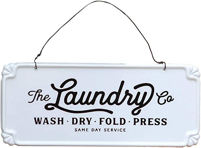 Top 10 Laundry Co Wooden Sign