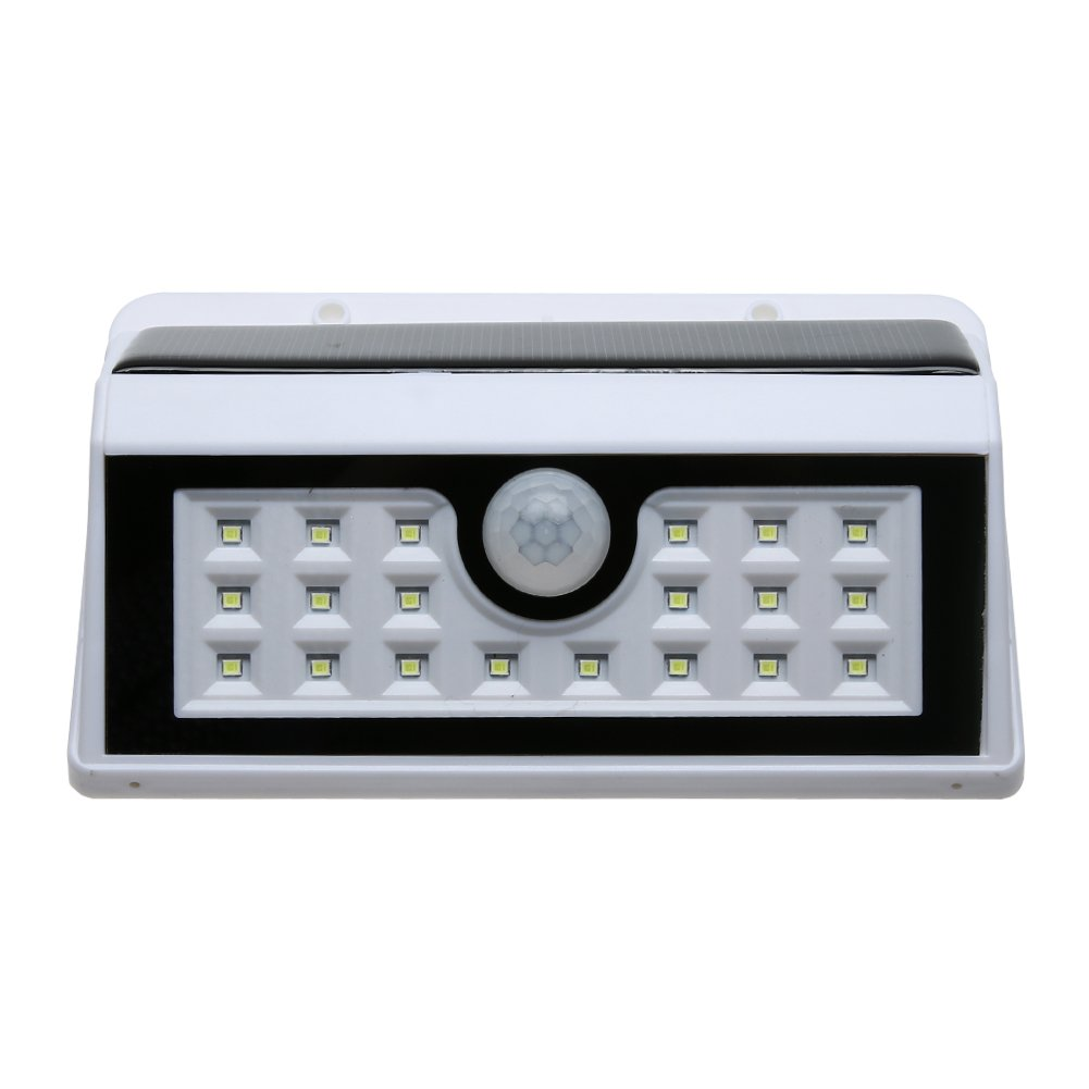 TTnight 20 LED Waterproof PIR Motion Sensor Solar Power Outdoor Security Lamp White for Garden Path Courtyard