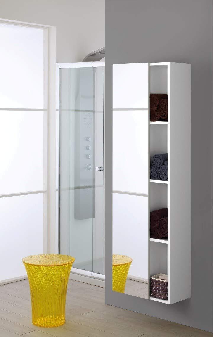Bianco 26.5x50x160 cm FERIDRAS Boss Pensile Sospeso con Specchio