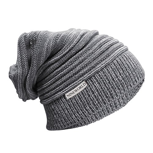 NINEWORLD Knitted Cable Thick Chunky Winter/Spring Beanie Cap, One (Chunky Wool Hat)