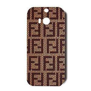 3D Retro Fashion FENDI Logo Phone Case for Htc One M8 Shockproof Cover Case FENDI Logo