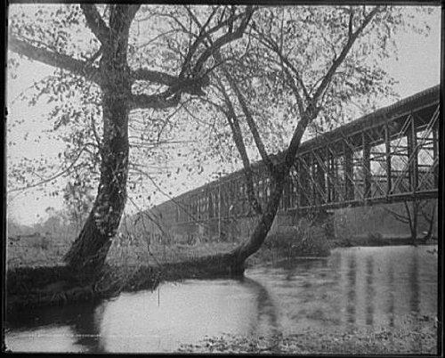 Photo: Bridge over Neshaminy Falls,streams,Pennsylvania,PA,Detroit Publishing - Neshaminy Pa
