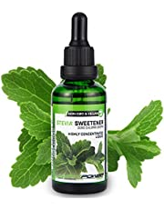 ALPHA POWER FOOD®: Stevia líquida natural - Stevia pura 100% - sin gusto, Edulcorante natural, sustituto del azúcar con sabor - sin azúcar & calorías