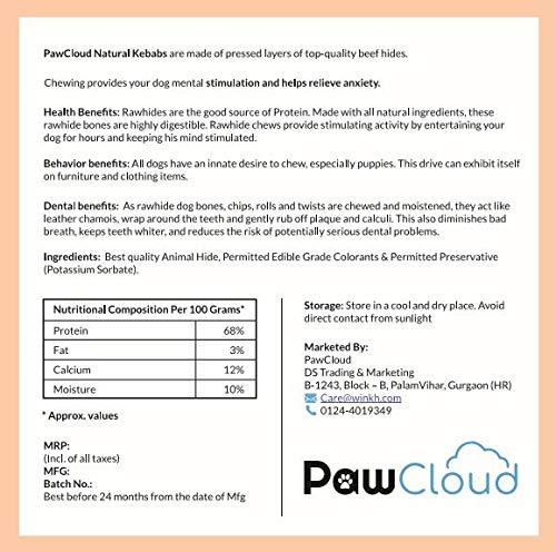 PawCloud Natural Kebab Dog Treat 200 Gm