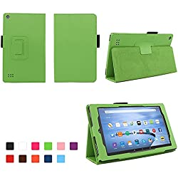 Case for All-New Fire 7 2017 - Premium Folio Case for All-New Fire 7 Tablet with Alexa 7th Generation - (Green)