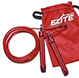 Train Elite 1.2 LB Heavy Weighted Cable Adjustable Locking System Fitness Strength Jump Rope for Men...