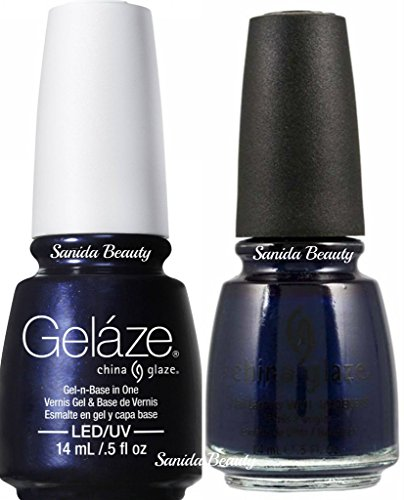China Glaze Gelaze Tips and Toes Nail Polish, Up All Night, 2 Count ()