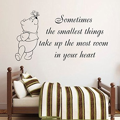 Quote Wall Decals Winnie Pooh Art Small Thing In Heart Vinyl Sticker Baby  Boy Girl Bedroom Nursery Home Decor Fast Shipping L344     Amazon.com Part 71