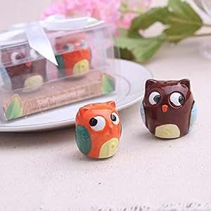 Wedding Favor Gift Owl Salt Pepper Shakers