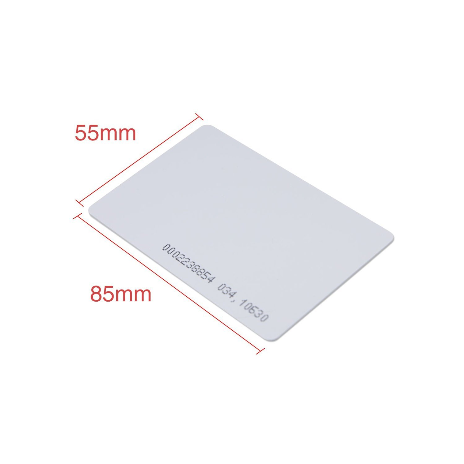 SainSmart Generic White Plastic Contactless 125kHz TK4100 EM4100 RFID Proximity ID Smart Entry Access Card (Pack of 100) by SainSmart (Image #5)