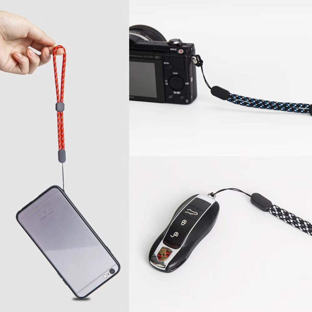 Multi-Color 6 Pack VKO Adjustable Hand Wrist Strap,9.5 inches Nylon Lanyard Straps Compatible for GoPro PSP Cell Phone Case Point and Shoot Camera Keychains USB Water Bottle